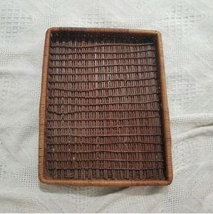 Other - Boho Anthro Farmhouse Rustic Wicker Basket Tray